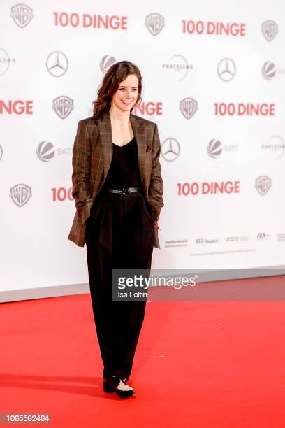 German actress Anja Knauer attends the German premiere of the movie '100 Dinge' at CineStar on November 26 2018 in Berlin Germany
