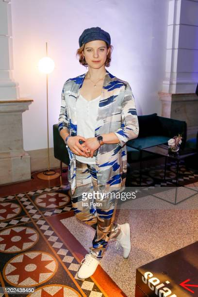 German actress Anjorka Strechel attends the Blue Hour Party hosted by ARD during the 70th Berlinale International Film Festival at Museum der...