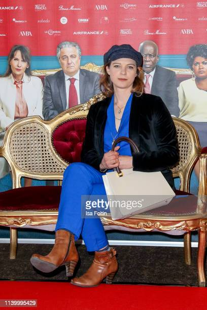 German actress Anjorka Strechel attends the premiere of the movie Monsieur Claude 2 at Kino International on April 2 2019 in Berlin Germany