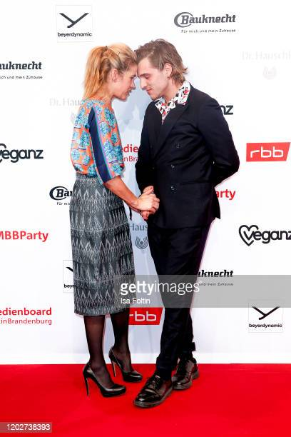 German actress Anke Engelke and German actor Jonas Dassler attend the Medienboard Party on the occasion of the 70th Berlinale International Film...