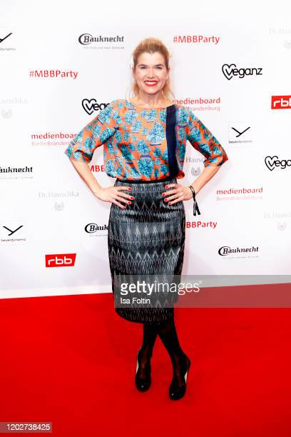 German actress Anke Engelke attends the Medienboard Party on the occasion of the 70th Berlinale International Film Festival at Ritz Carlton on...