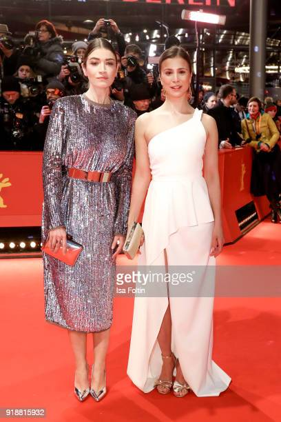 German actress Anna Bederke and German actress Aylin Tezel attend the Opening Ceremony 'Isle of Dogs' premiere during the 68th Berlinale...
