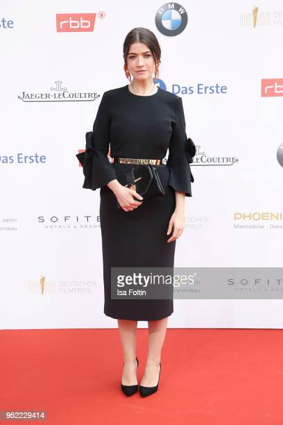 German actress Anna Bederke attends the Lola German Film Award red carpet at Messe Berlin on April 27 2018 in Berlin Germany
