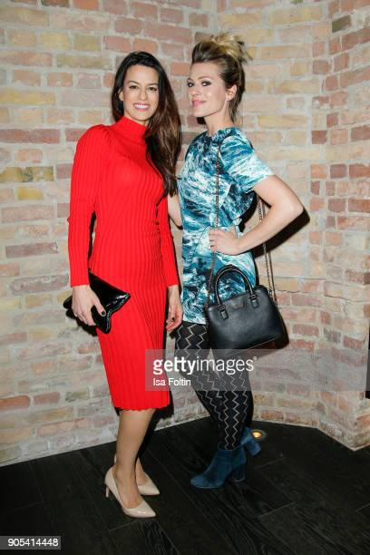 German actress Anna Lena Class and German actress Nele Kiper during the Bunte New Faces Night at Grace Hotel Zoo on January 15 2018 in Berlin Germany