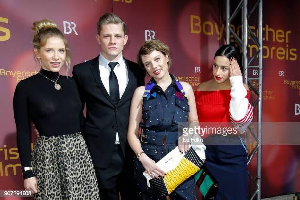 German actress Anna Lena Klenke, German actor Maximilian von der Groeben, German actress Jella Haase and German actress Gizem Emre attend the...