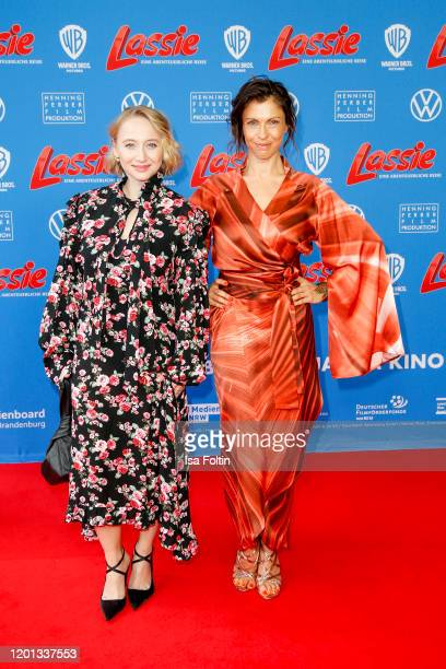 German actress Anna Maria Muehe and German actress Jana Pallaske attend the premiere of Lassie Eine Abenteurerliche Reise at Zoo Palast on February...