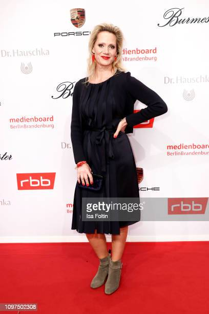 German actress Anna Schudt attends the Medienboard BerlinBrandenburg Reception on the occasion of the 69th Berlinale International Film Festival at...