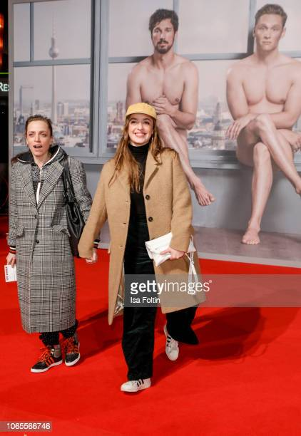 German actress Anna Thalbach and her daughter German actress Nellie Thalbach attend the German premiere of the movie '100 Dinge' at CineStar on...