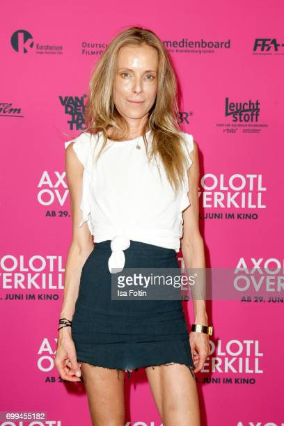 German actress Anna von Auersperg attends the 'Axolotl Overkill' Berlin Premiere at Volksbuehne RosaLuxemburgPlatz on June 21 2017 in Berlin Germany