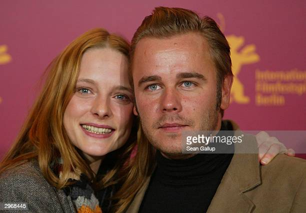 "German actress Anne Ratte-Polle and actorFrank Giering attend the photocall to ""Nightsongs"" at the 54th annual Berlinale International Film Festival..."