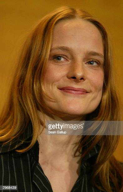 German actress Anne RattePolle attends the news conference to Nightsongs at the 54th annual Berlinale International Film Festival February 11 2004 in...