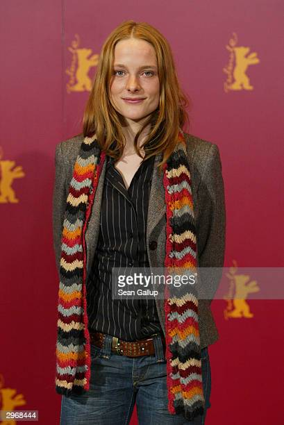 German actress Anne RattePolle attends the photocall to Nightsongs at the 54th annual Berlinale International Film Festival February 11 2004 in...