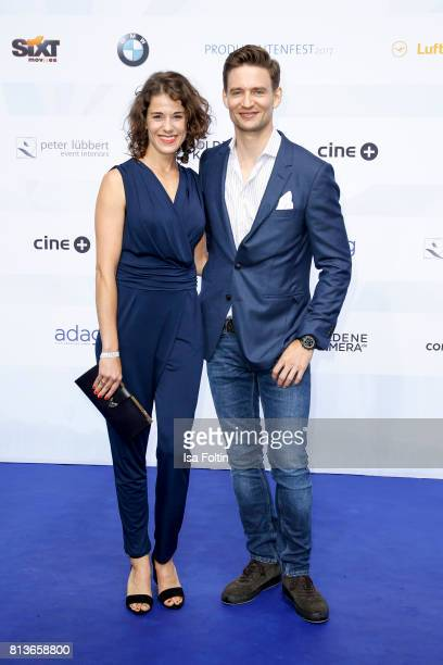 German actress Anne Schaefer and German actor August Wittgenstein attend the summer party 2017 of the German Producers Alliance on July 12 2017 in...