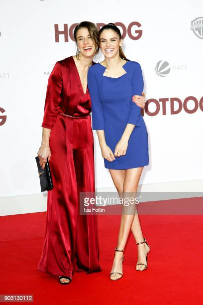 German actress Anne Schaefer and German actress and model Lisa Tomaschewsky attend the 'Hot Dog' world premiere at CineStar on January 9 2018 in...