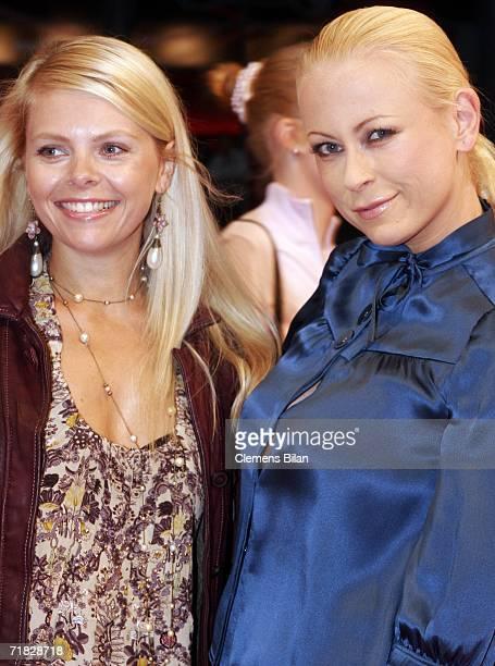 German actress Anne Sophie Briest and Jenny ElversElbertzhagen attend the premiere of the film Das Parfum September 8 2006 in Berlin Germany