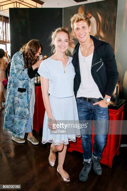 German actress Anne-Catrin Maerzke and German actor Lukas Sauer attend the Thomas Sabo Press Cocktail during the Mercedes-Benz Fashion Week Berlin...