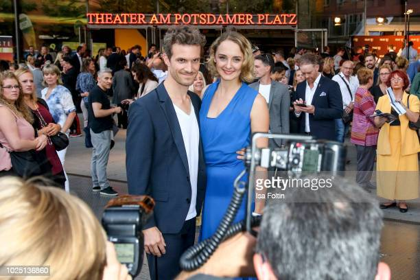 German actress AnneCatrin Maerzke and German actor Thaddaeus Meilinger during the musical premiere of 'BEAT IT Die Show ueber den King of Pop' at...