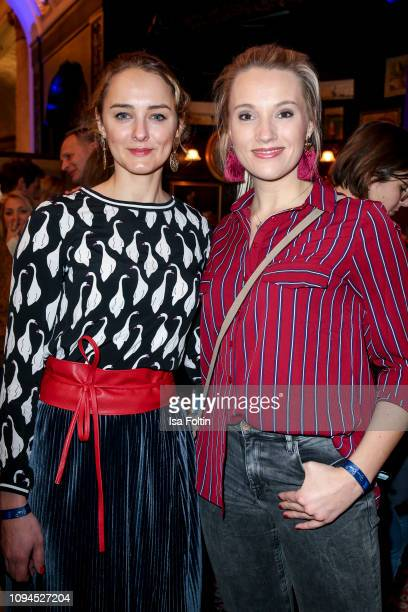 German actress Anne-Catrin Maerzke and German musical actress Anna Hofbauer attend the Blaue Blume Awards at Restaurant Grosz on February 6, 2019 in...
