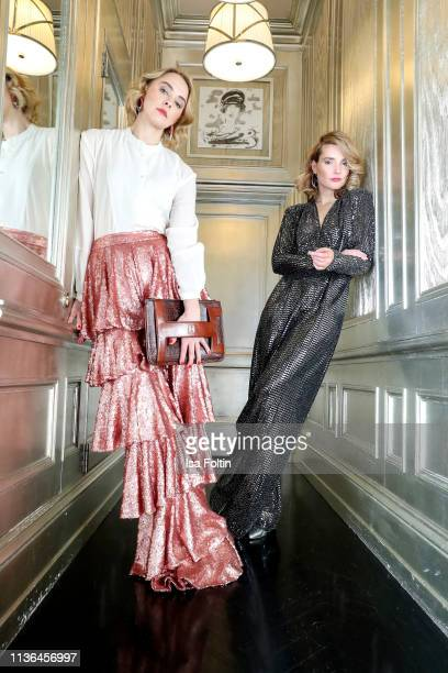 German actress Anne-Catrin Maerzke and influencer Marie von den Benken pose during a fashion shooting for the World Vegan Magazine on February 9,...