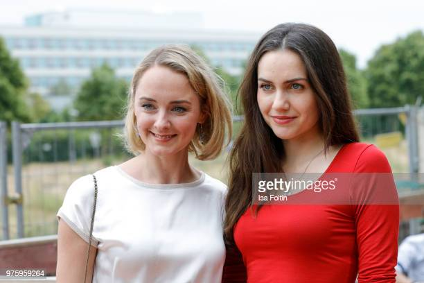 German actress AnneCatrin Maerzke and Katharina Sporrer during the nominees announcement of the German Play Award 2018 at Kornversuchsspeicher on...