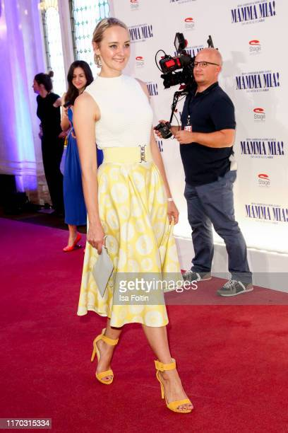 """German actress Anne-Catrin Maerzke at the premiere of """"Mamma Mia! - Das Musical"""" at Stage Theater des Westens on September 22, 2019 in Berlin,..."""