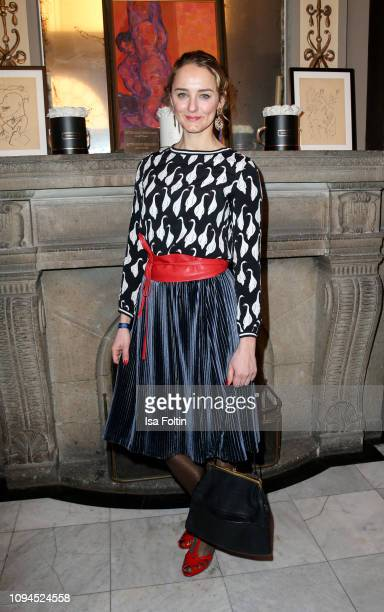 German actress Anne-Catrin Maerzke attends the Blaue Blume Awards at Restaurant Grosz on February 6, 2019 in Berlin, Germany.
