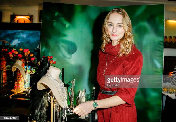 German actress Anne-Catrin Maerzke attends the Thomas Sabo Press Cocktail during the Mercedes-Benz Fashion Week Berlin A/W 2018 at China Club on...