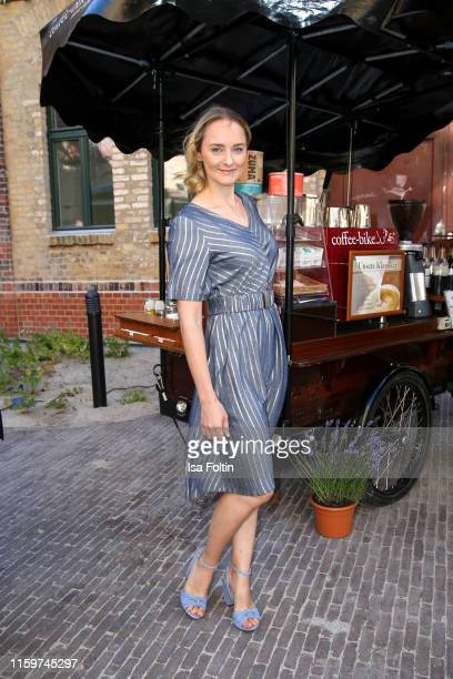German actress Anne-Catrin Maerzke during the Klambt Style Cocktail at la soupe populaire CANTEEN on July 2, 2019 in Berlin, Germany.
