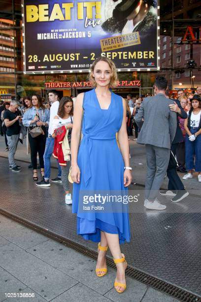 German actress AnneCatrin Maerzke during the musical premiere of 'BEAT IT Die Show ueber den King of Pop' at Stage Theater am Potsdamer Platz on...