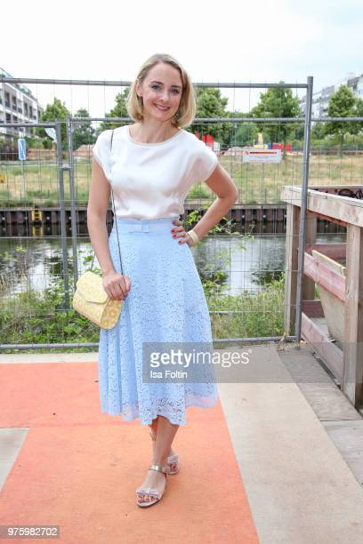 German actress AnneCatrin Maerzke during the nominees announcement of the German Play Award 2018 at Kornversuchsspeicher on June 15 2018 in Berlin...