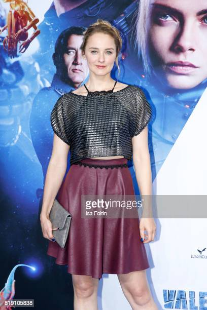 German actress AnneCatrin Maerzke during the 'Valerian Die Stadt der Tausend Planeten' premiere at CineStar on July 19 2017 in Berlin Germany