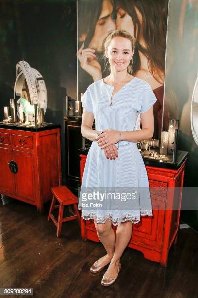 German actress Anne-Catrin Maerzke, wearing jewelry of Thomas Sabo attends the Thomas Sabo Press Cocktail during the Mercedes-Benz Fashion Week...