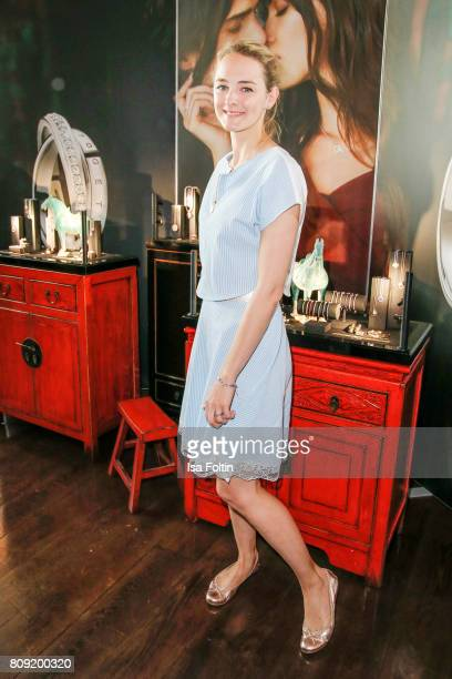 German actress AnneCatrin Maerzke wearing jewelry of Thomas Sabo attends the Thomas Sabo Press Cocktail during the MercedesBenz Fashion Week Berlin...