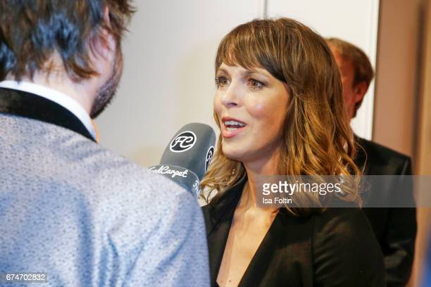 German actress Anneke Kim Sarnau at the Lola German Film Award winners board at Messe Berlin on April 28 2017 in Berlin Germany