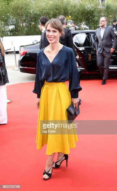 German actress Anneke Kim Sarnau attends the Lola German Film Award red carpet at Messe Berlin on April 27 2018 in Berlin Germany