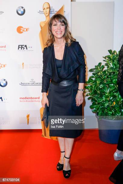 German actress Anneke Kim Sarnau wearing a watch by JaegerLeCoultre at the Lola German Film Award winners board at Messe Berlin on April 28 2017 in...