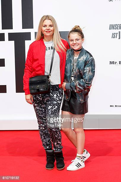 German actress Anne-Sophie Briest and her daughter Faye Montana attend the 'Unsere Zeit ist jetzt' World Premiere at CineStar on September 27, 2016...