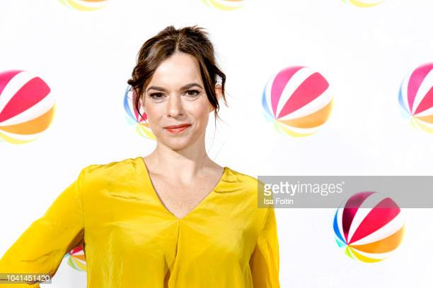 German actress Annika Kuhl attends the SAT1 Fiction photo call on September 26 2018 in Hamburg Germany