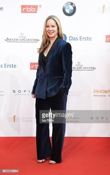 German actress AnnKathrin Kramer attends the Lola German Film Award red carpet at Messe Berlin on April 27 2018 in Berlin Germany