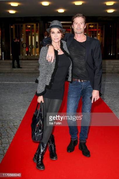 German actress Anouschka Renzi and German actor Marc Zabinski during the Vaunet Summer Party Berlin Germany