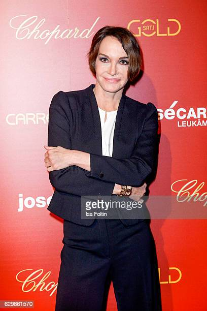 German actress Anouschka Renzi attends the 22th Annual Jose Carreras Gala on December 14 2016 in Berlin Germany