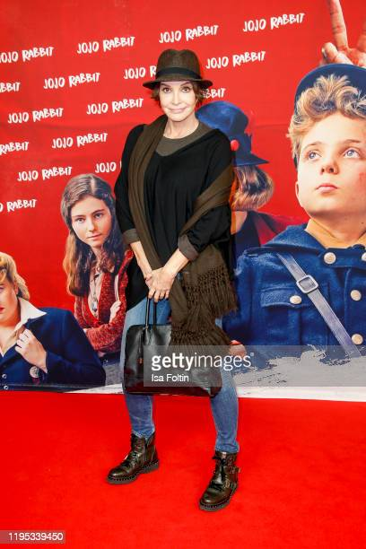 German actress Anouschka Renzi attends the premiere of JoJo Rabbit at Kino International on January 22 2020 in Berlin Germany
