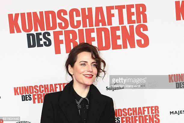 German Actress Antje Traue attends the 'Kundschafter des Friedens' Premiere at Kino International on January 17, 2017 in Berlin, Germany.