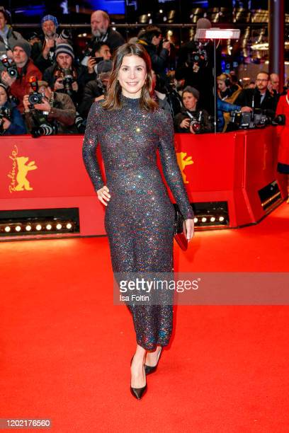 German actress Aylin Tezel arrives for the opening ceremony and My Salinger Year premiere during the 70th Berlinale International Film Festival...