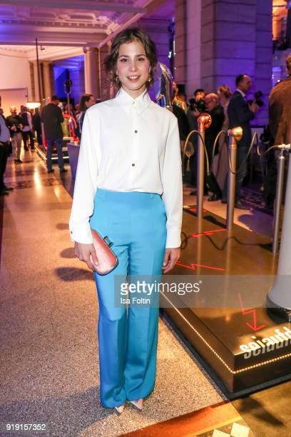 German actress Aylin Tezel attends the Blue Hour Reception hosted by ARD during the 68th Berlinale International Film Festival Berlin on February 16...