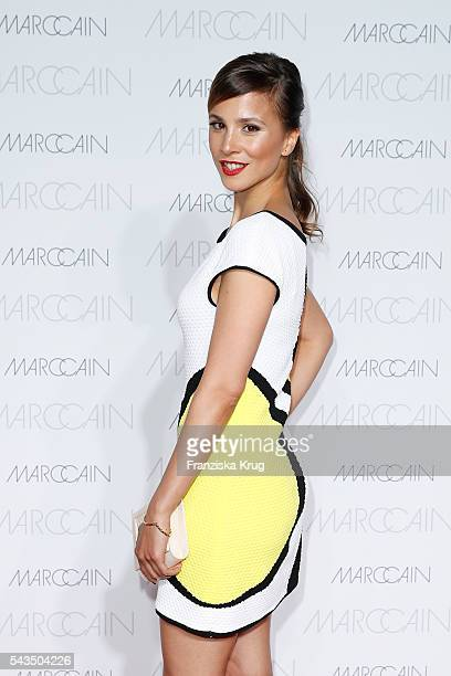 German actress Aylin Tezel attends the Marc Cain fashion show spring/summer 2017 at CITY CUBE Panorama Bar on June 28 2016 in Berlin Germany