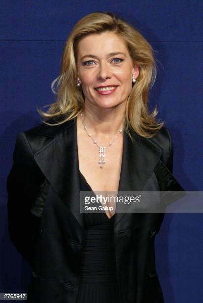 """German actress Barbara Rudnik attends """"The Bambi Awards"""" November 27, 2003 in Hamburg, Germany."""