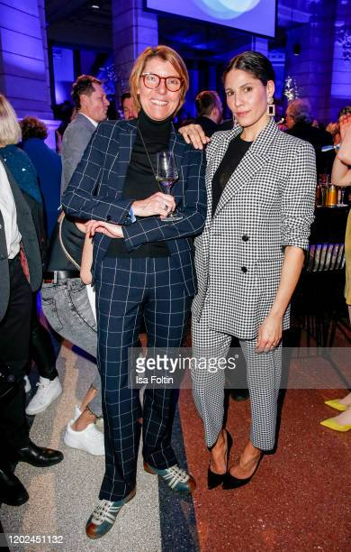 German actress Bettina Boettinger and German actress Jasmin Gerat attend the Blue Hour Party hosted by ARD during the 70th Berlinale International...