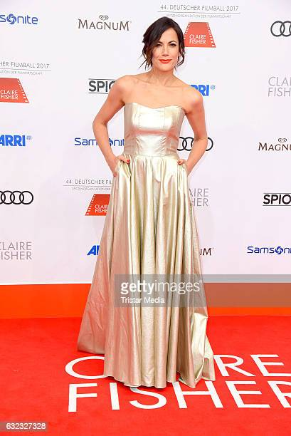 German actress Bettina Zimmermann attends the German Film Ball 2017 at Hotel Bayerischer Hof on January 21 2017 in Munich Germany