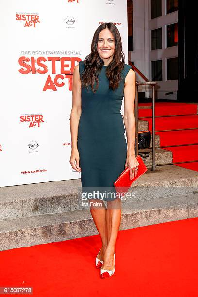 German actress Bettina Zimmermann attends the 'Sister Act The Musical' premiere at Stage Theater on October 16 2016 in Berlin Germany